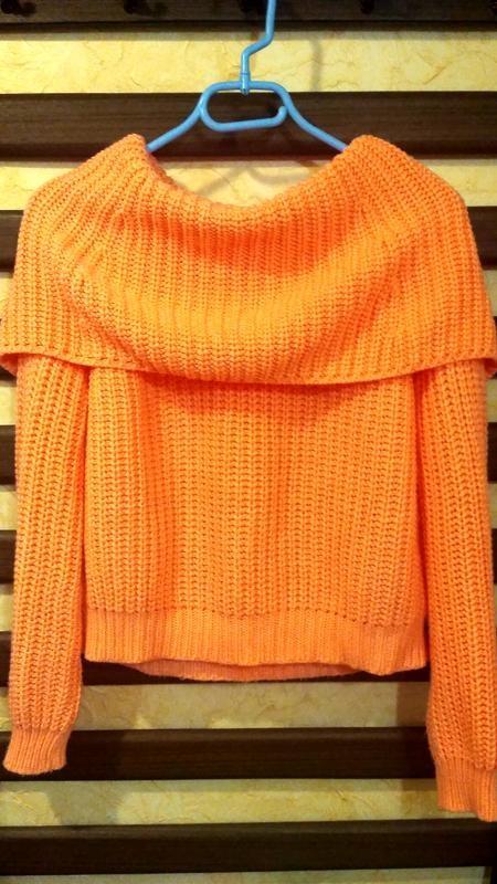 Теплый свитер, кофта женская, свитер с хомутом, тепла жіноча кофта, светр грубої в'язки фото №1