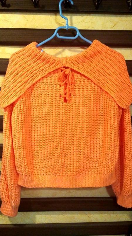 Теплый свитер, кофта женская, свитер с хомутом, тепла жіноча кофта, светр грубої в'язки фото №2