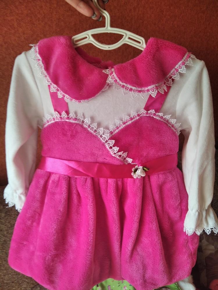 Нарядное платье велюровое фото №1