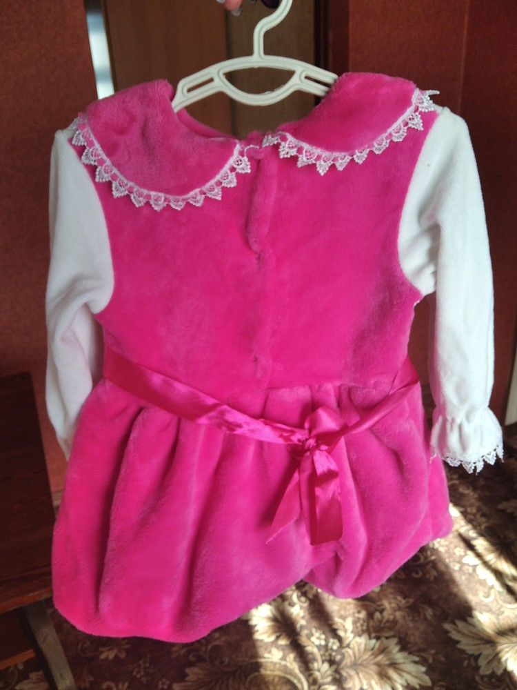 Нарядное платье велюровое фото №2