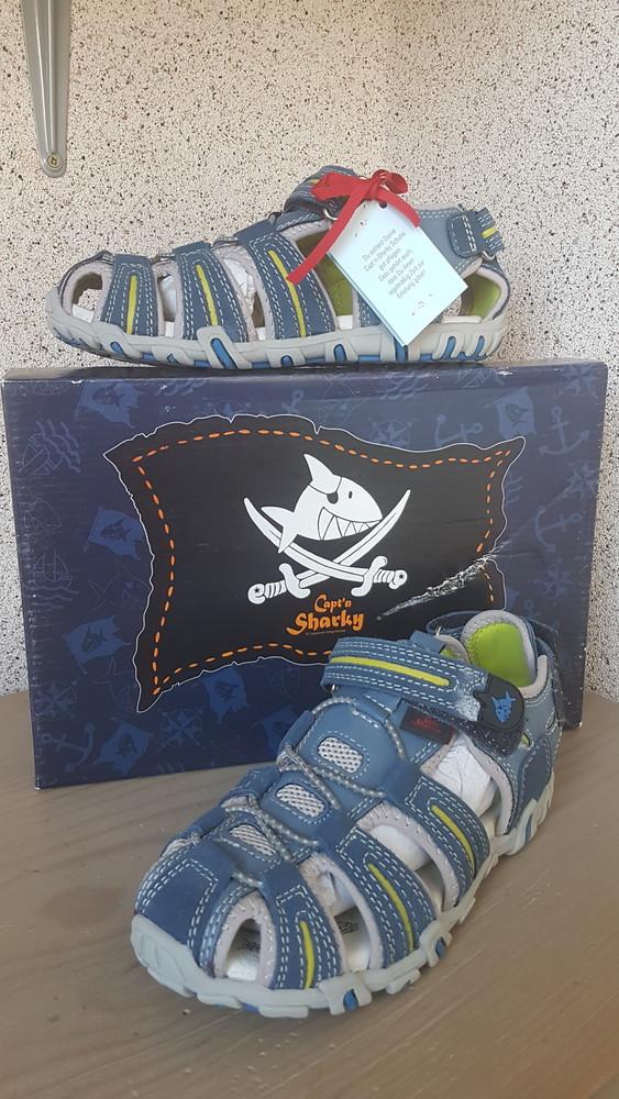 Сандалии детские, кожаные босоножки captn sharky р.32 фото №1