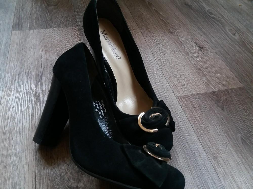 Натуральные замшевые туфельки mariamoro фото №3
