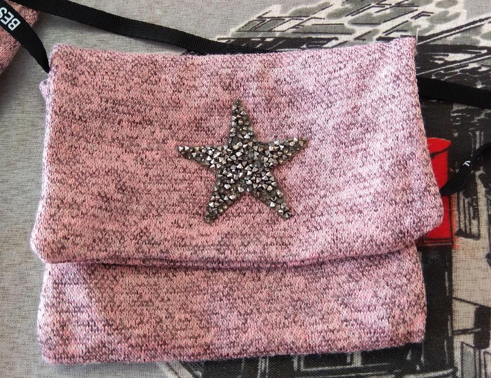 Розовое платье с мишкой и сумочкой р. s фото №6