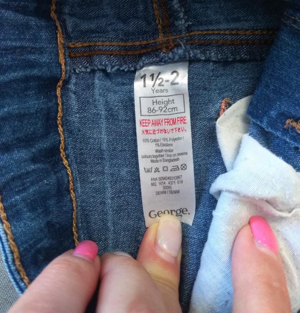 Синие джинсы george для девочки 1,5-2 года фото №4