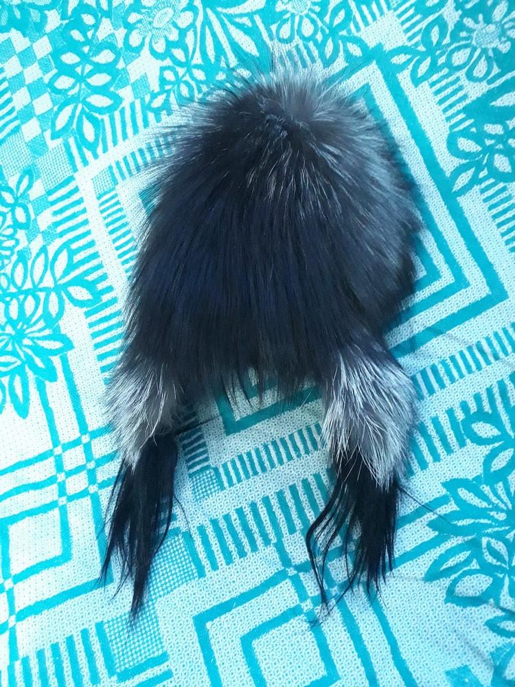 Шапка - натуральная чернобурка фото №2