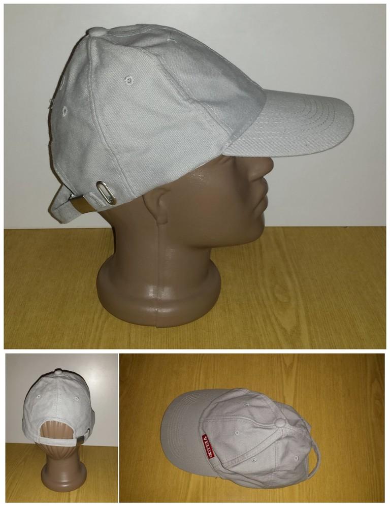 Одежда вещи головной убор унисекс кепка бейсболка серая обхват головы 54 см хлопок коттон фото №1
