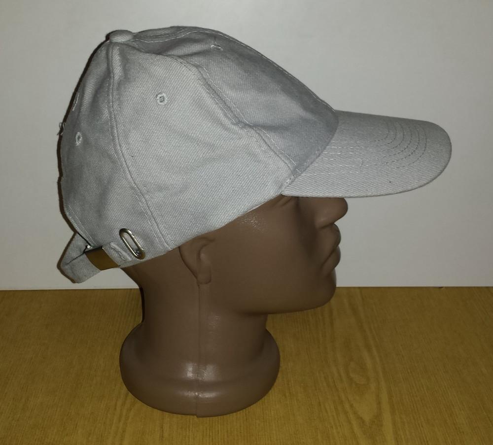 Одежда вещи головной убор унисекс кепка бейсболка серая обхват головы 54 см хлопок коттон фото №2