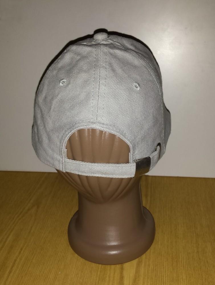 Одежда вещи головной убор унисекс кепка бейсболка серая обхват головы 54 см хлопок коттон фото №3