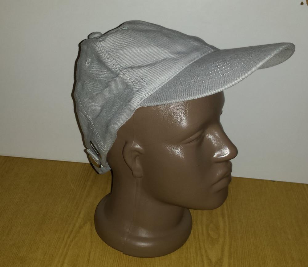 Одежда вещи головной убор унисекс кепка бейсболка серая обхват головы 54 см хлопок коттон фото №4
