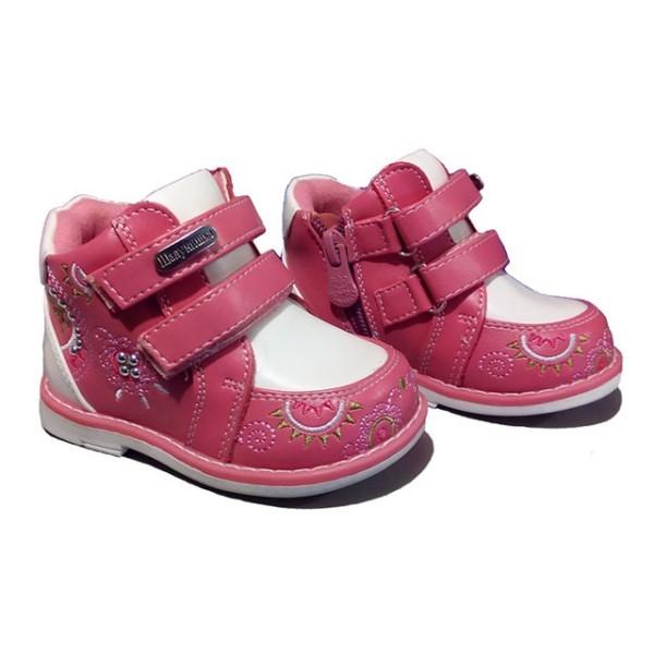 Розово-белые ботинки шалунишка ортопед р .21 фото №1