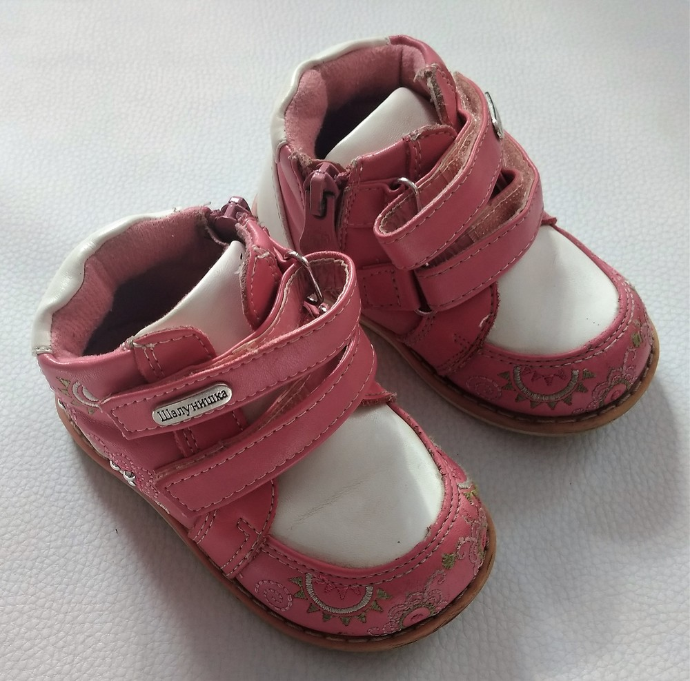 Розово-белые ботинки шалунишка ортопед р .21 фото №2