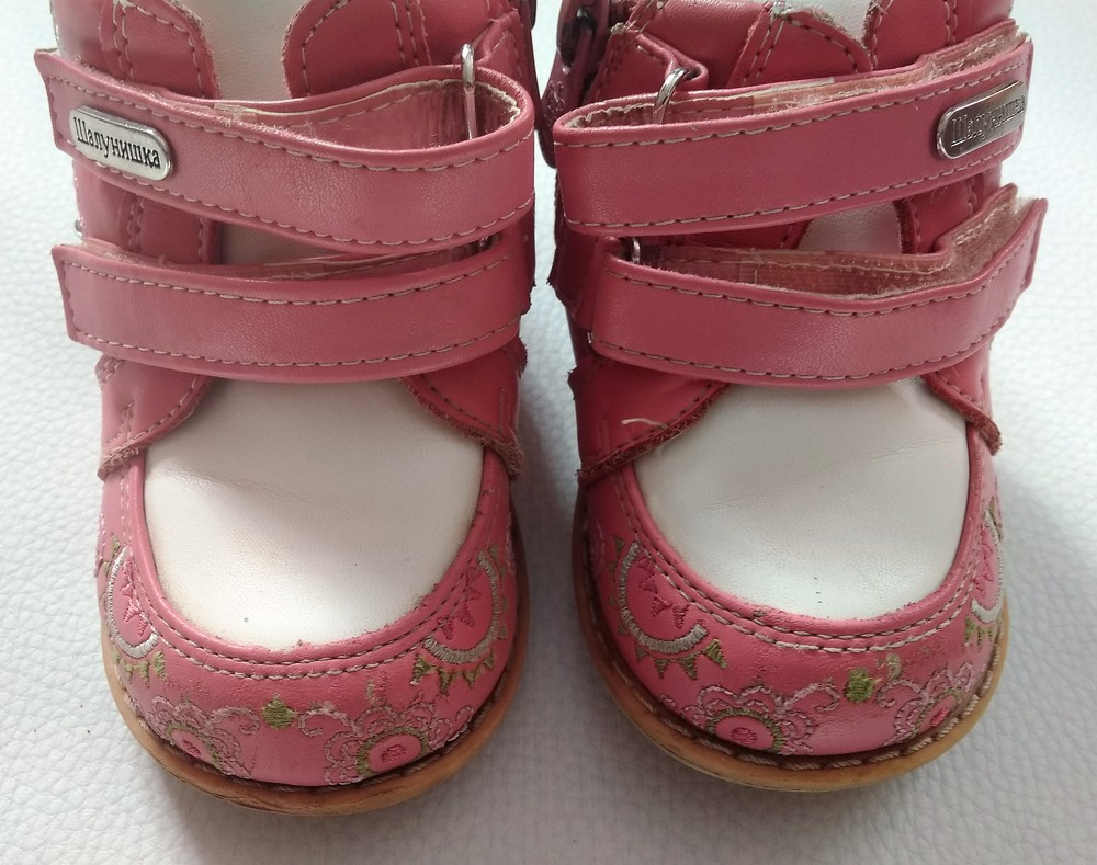 Розово-белые ботинки шалунишка ортопед р .21 фото №5