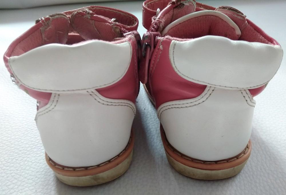 Розово-белые ботинки шалунишка ортопед р .21 фото №6