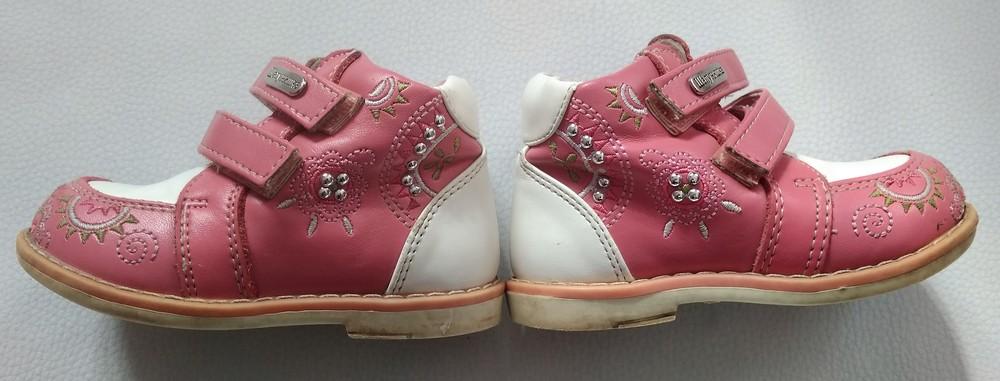 Розово-белые ботинки шалунишка ортопед р .21 фото №7
