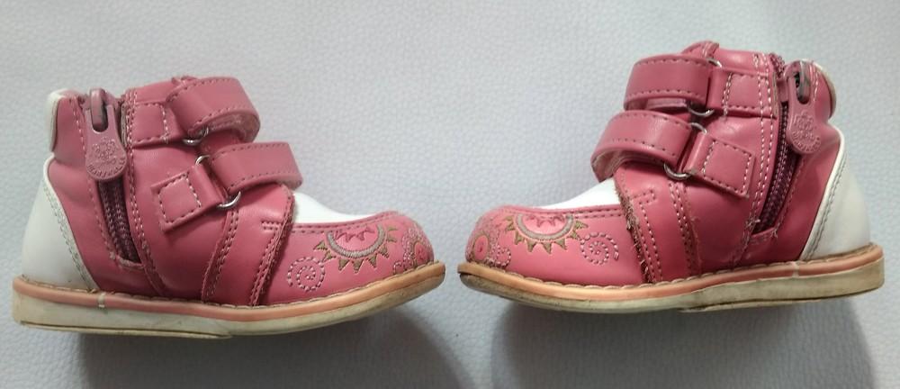 Розово-белые ботинки шалунишка ортопед р .21 фото №8
