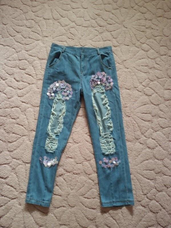 Продам новые, красивые и модные джинсы на девушку 44-46 р фото №1