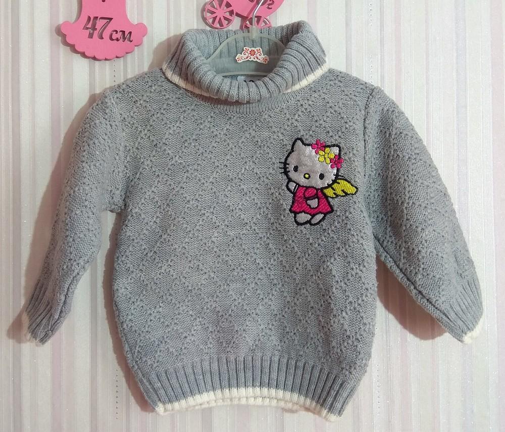 Серый свитер с горловиной karacabey р.12 мес фото №1
