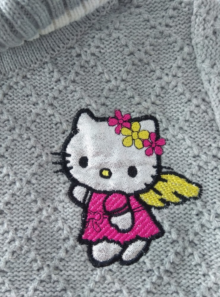 Серый свитер с горловиной karacabey р.12 мес фото №2