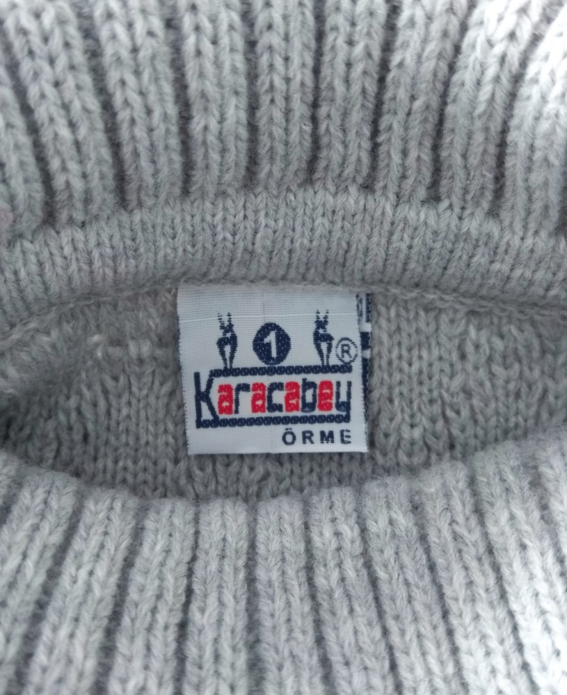 Серый свитер с горловиной karacabey р.12 мес фото №4