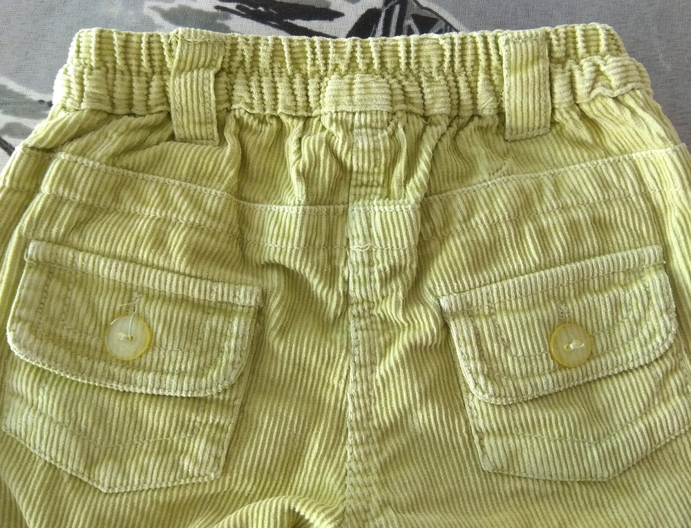 Салатовые вельветовые штаны р. s (12-18) фото №4