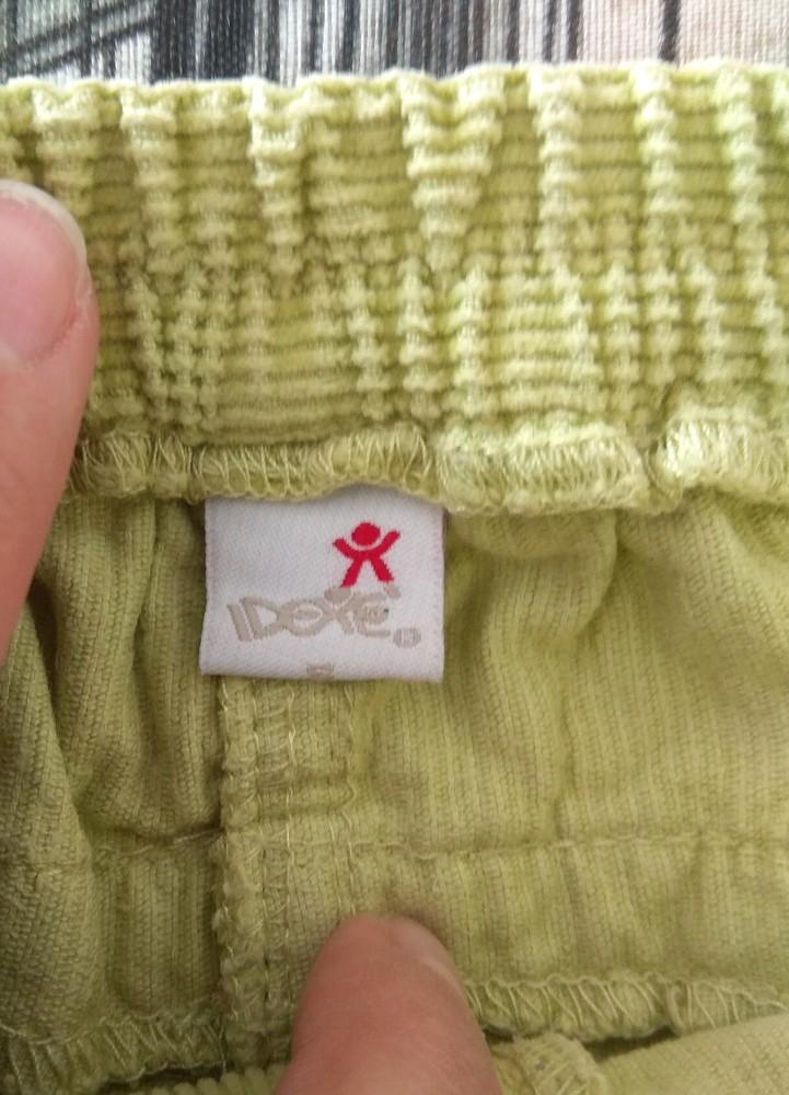 Салатовые вельветовые штаны р. s (12-18) фото №5