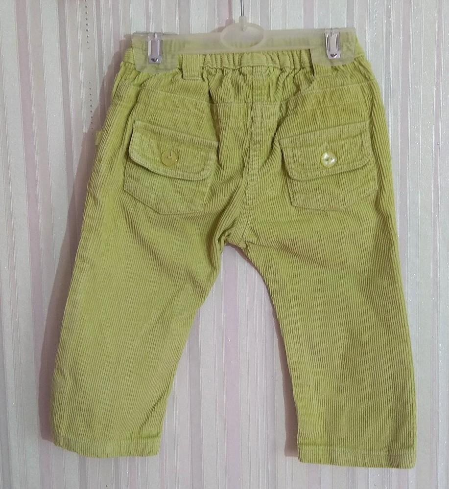 Салатовые вельветовые штаны р. s (12-18) фото №2