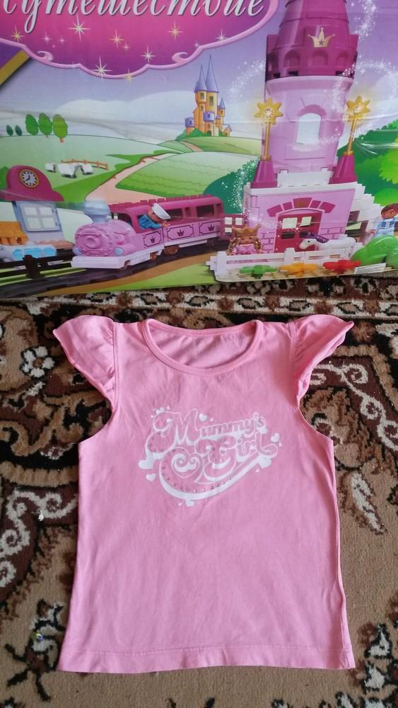 Красивая фирменная футболочка на девочку 6-9 л.идеал! фото №1