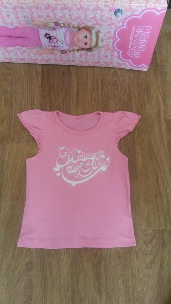 Красивая фирменная футболочка на девочку 6-9 л.идеал! фото №2