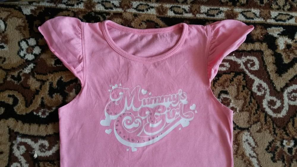 Красивая фирменная футболочка на девочку 6-9 л.идеал! фото №3