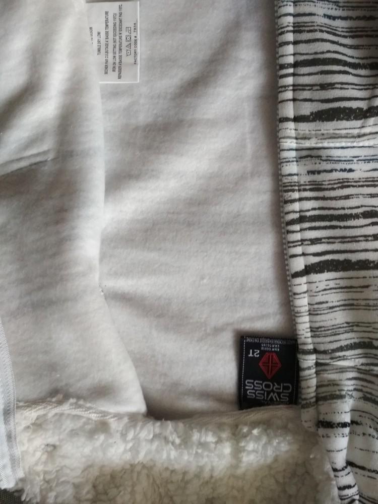 Новая теплая белая толстовка худи swiss cross, сша, мальчику и девочке на 1-2 года, размер 2т фото №9