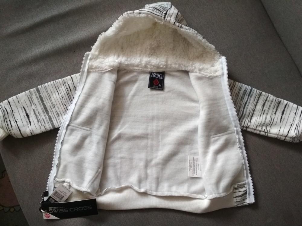 Новая теплая белая толстовка худи swiss cross, сша, мальчику и девочке на 1-2 года, размер 2т фото №10