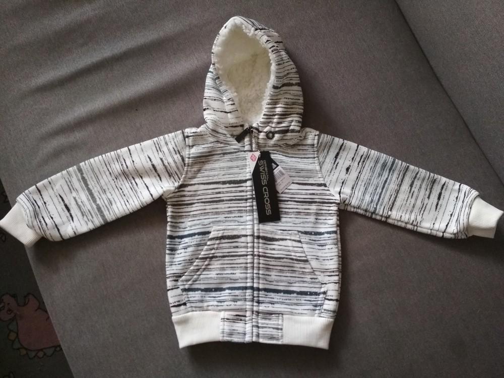 Новая теплая белая толстовка худи swiss cross, сша, мальчику и девочке на 1-2 года, размер 2т фото №6