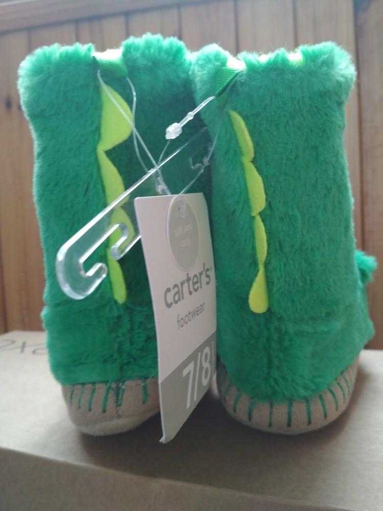 Детские тапочки угги carter's дракончики, новые, из сша, размер us7/8, eur23/24, 15.5 см фото №9