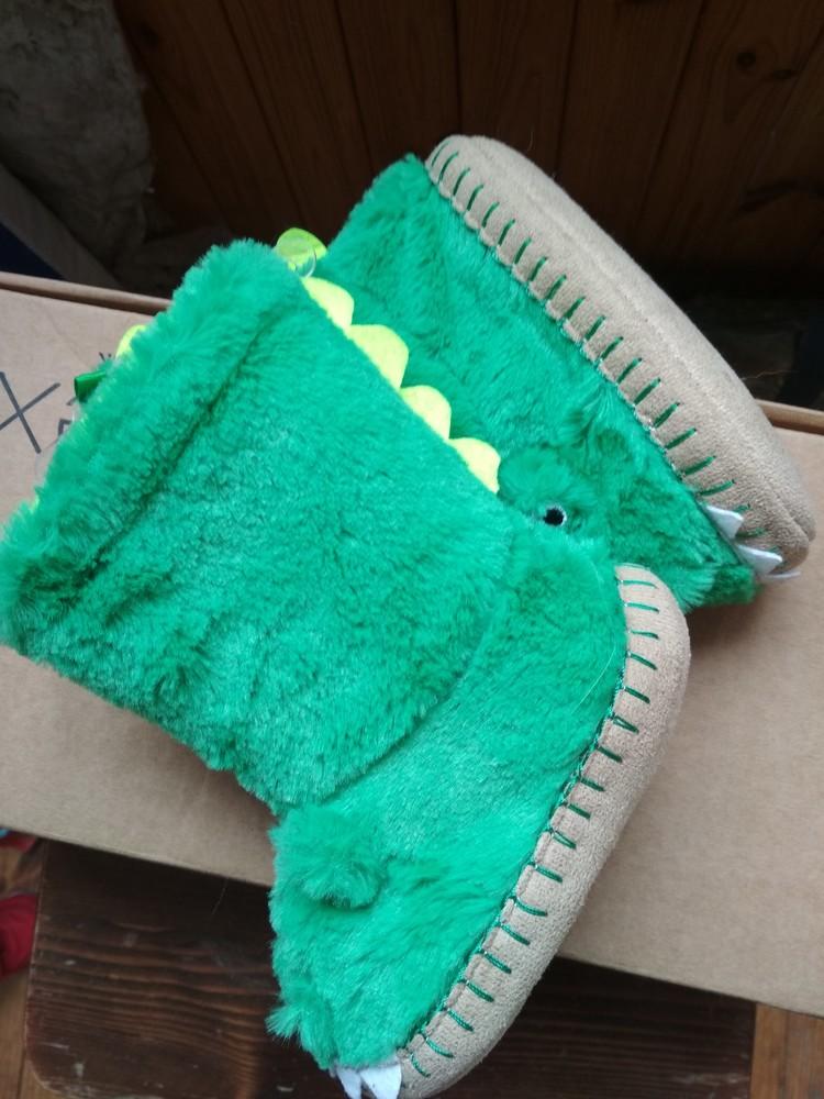 Детские тапочки угги carter's дракончики, новые, из сша, размер us7/8, eur23/24, 15.5 см фото №10
