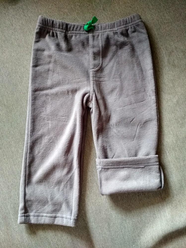 Детские флисовые штаны брюки carter's (картерс), сша, размер 24м, на 1-2 года фото №1