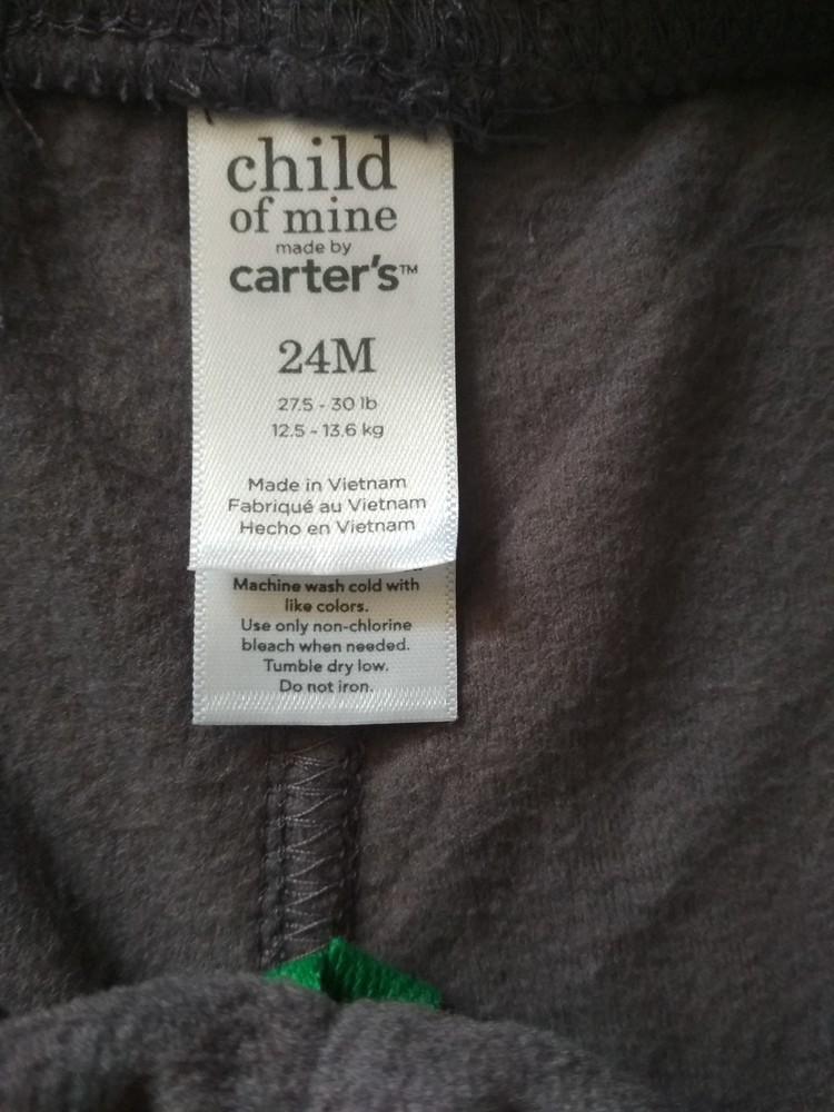 Детские флисовые штаны брюки carter's (картерс), сша, размер 24м, на 1-2 года фото №6
