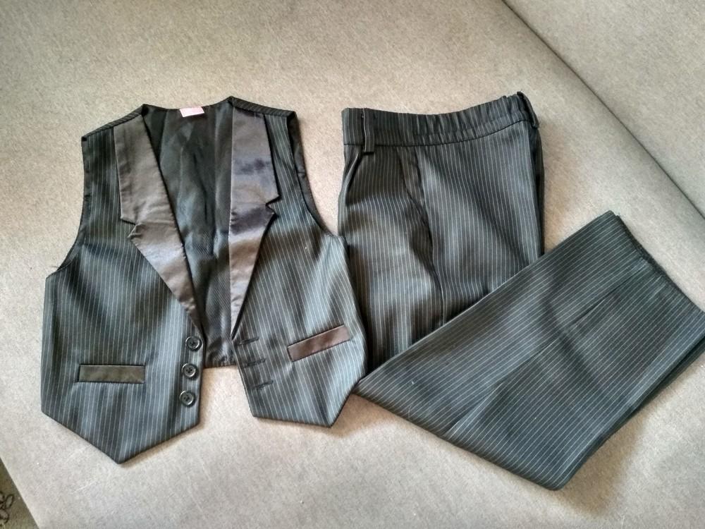 Костюм двойка suzie мальчику на 4-5 лет – жилетка и брюки плюс рубашка в подарок, размер 110-116 фото №1