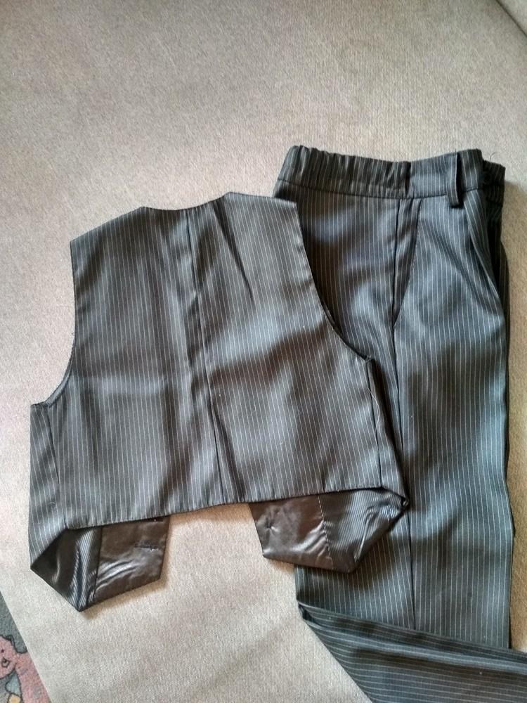 Костюм двойка suzie мальчику на 4-5 лет – жилетка и брюки плюс рубашка в подарок, размер 110-116 фото №2