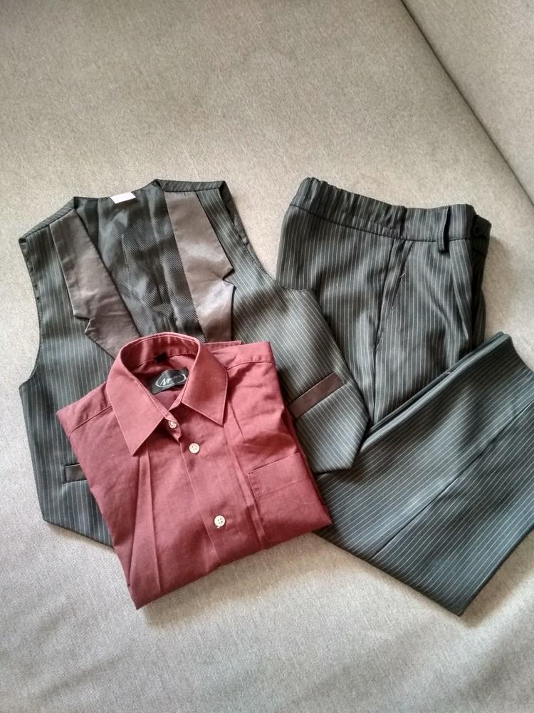 Костюм двойка suzie мальчику на 4-5 лет – жилетка и брюки плюс рубашка в подарок, размер 110-116 фото №3