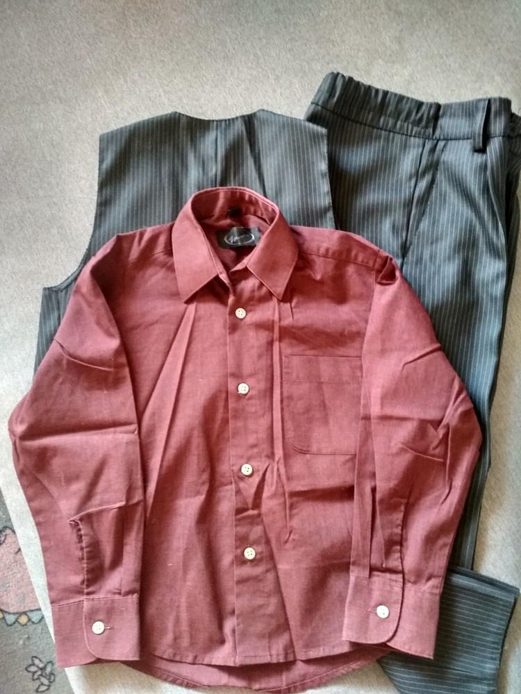 Костюм двойка suzie мальчику на 4-5 лет – жилетка и брюки плюс рубашка в подарок, размер 110-116 фото №4