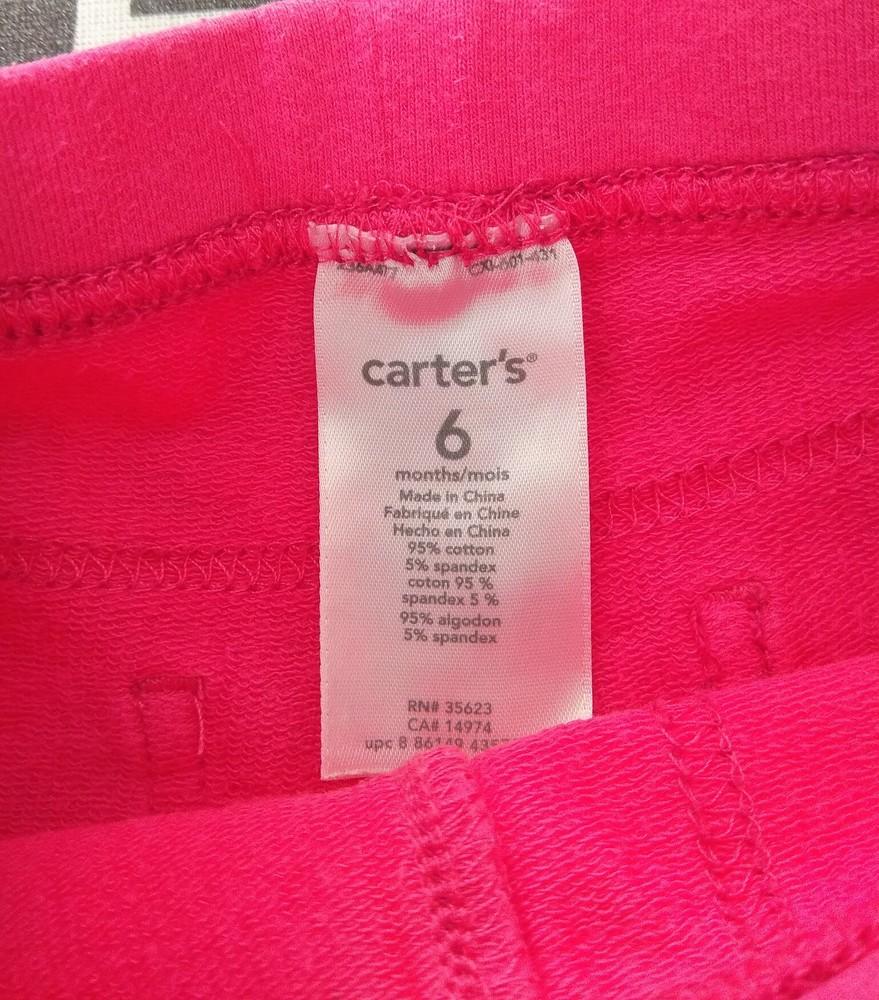 Розовые трикотажные джеггинсы carter's р. 6 мес фото №4