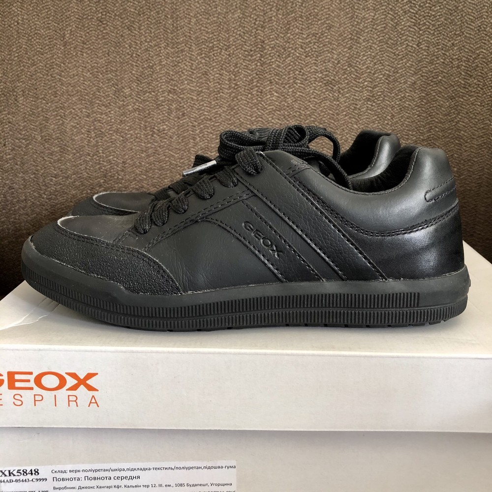 Туфли кроссовки geox кожа фото №1