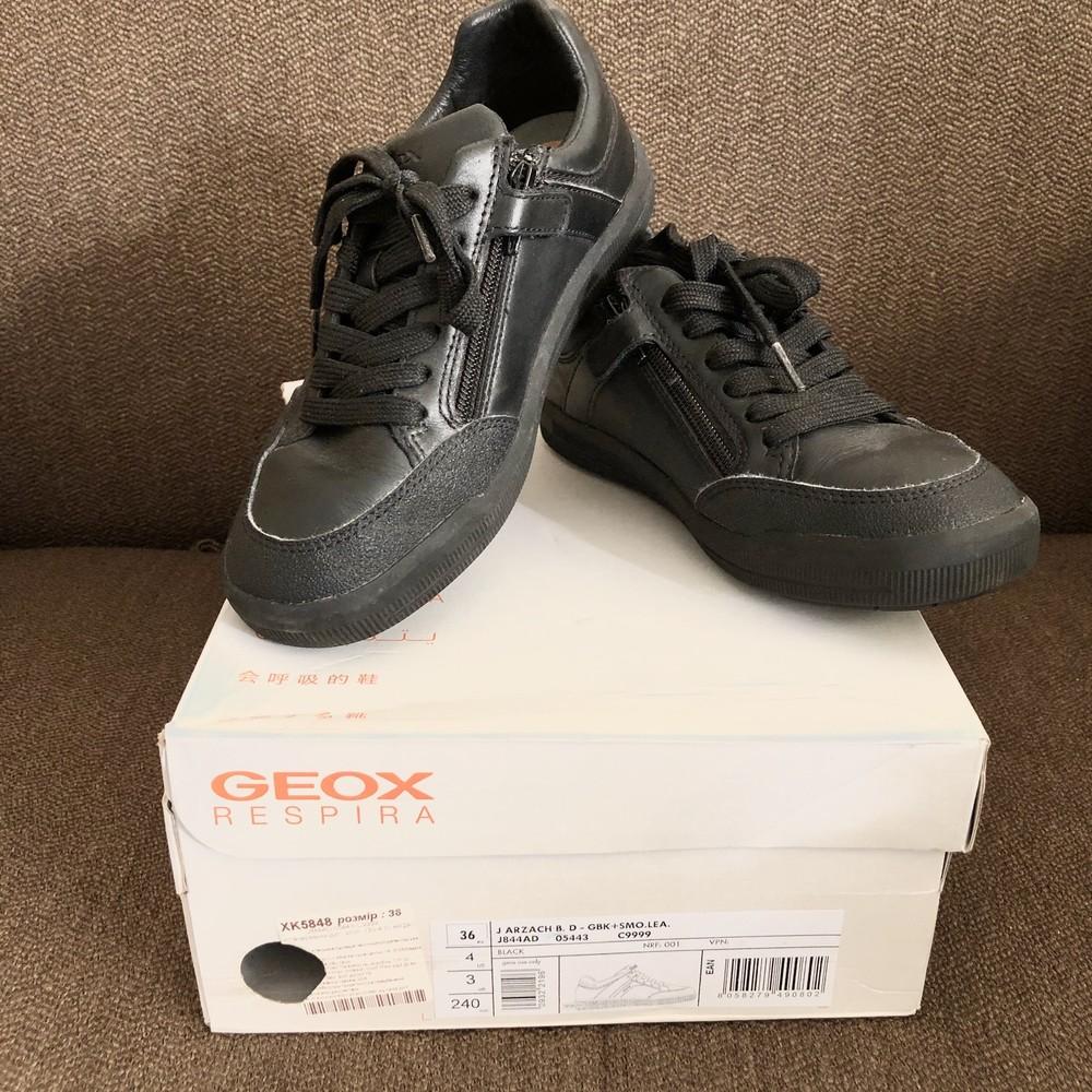 Туфли кроссовки geox кожа фото №3