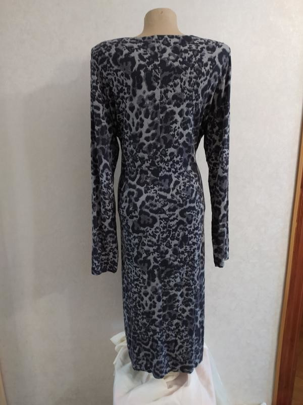 M&s отличное вискозное платье в анималистический принт, р.14-42 фото №6