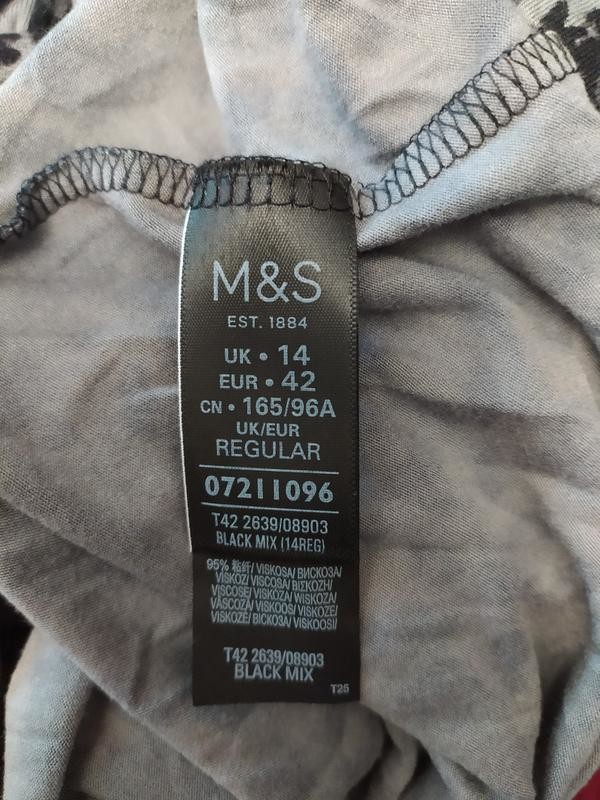 M&s отличное вискозное платье в анималистический принт, р.14-42 фото №8