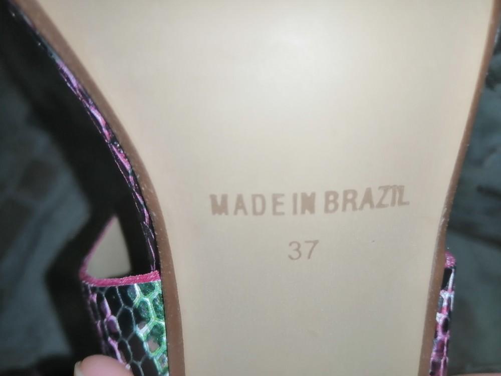 Крутые кожаные босоножки maria lya размер 37 фото №7
