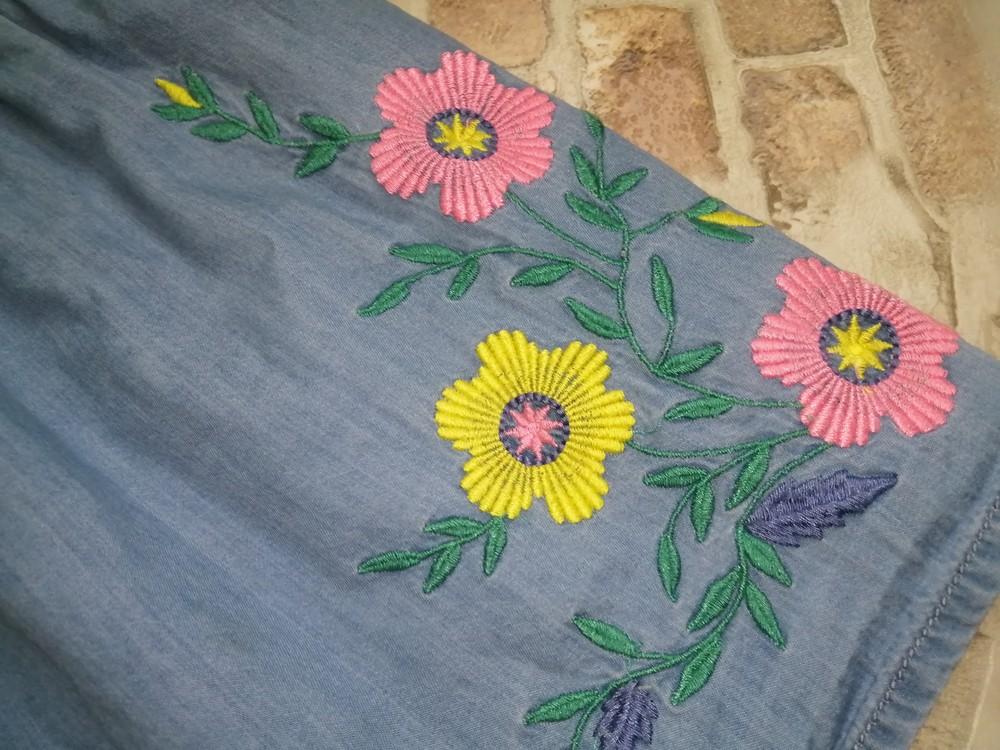 Платье с вышивкой f&f на 12-18 мес фото №2