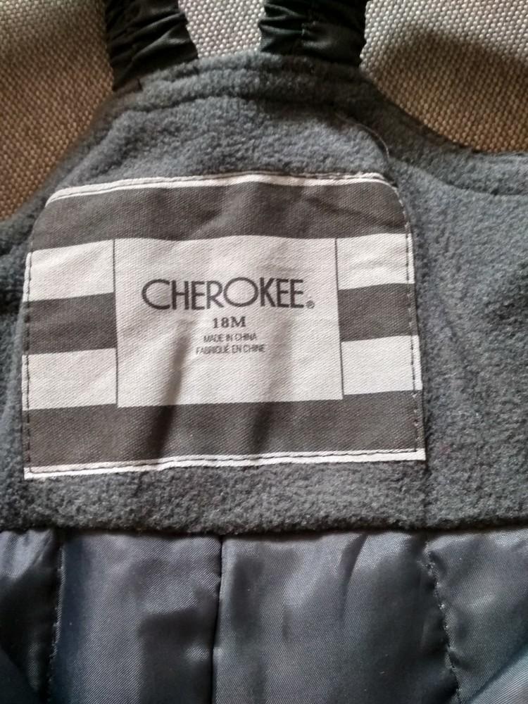 Детские зимние лыжные штаны полукомбинезон cherokee сша, мальчику девочке 1-2 года 12м 18м 86 92 фото №7