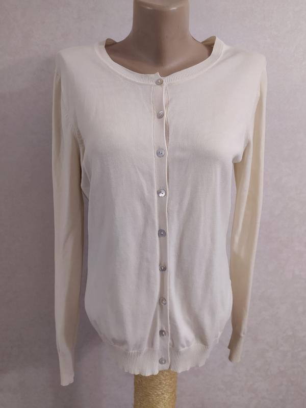 August silk замечательный кардиган, шелк+вискоза, на s-m фото №3