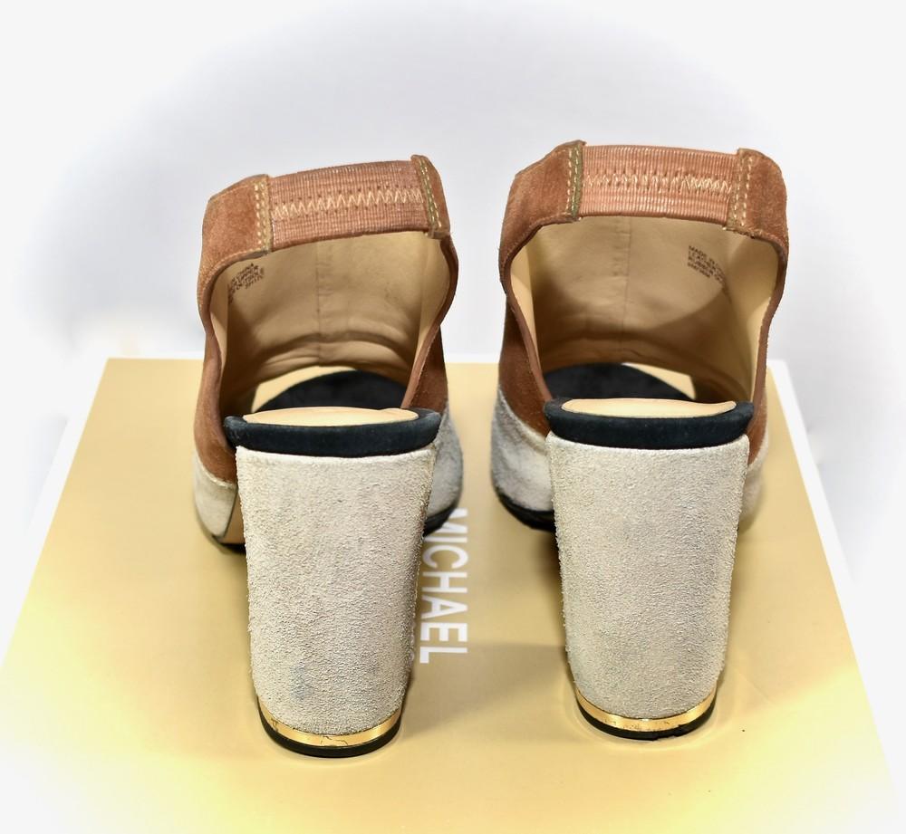 Michael kors. замшевые босоножки майкл корс. anise open toe фото №5